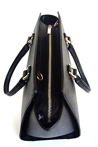 Superflybags - Bolso de asas para mujer Negro negro