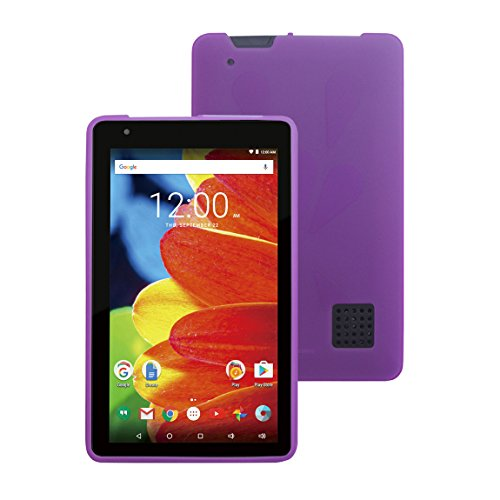 RCA Voyager 7 RCT6873W42 - Purple TPU Case- iShoppingdeals Ultra-Slim TPU Rubber Gel Cover with Textured, Non-Slip Grip for RCA Voyager 7 RCT6873W42 2016 Release (Rca Voyager 7 Inch Tablet Case)