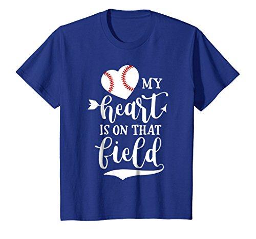 My Heart is on That Field Baseball T-Shirt Softball Mom