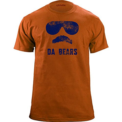 Vintage Da Bears Ditka Funny T-Shirt (XXX-Large, Orange/Blue)