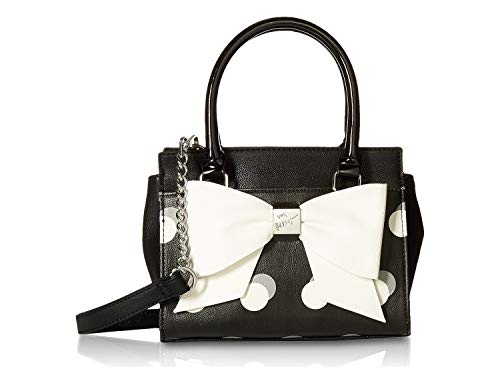 Betsey Johnson Evening (Betsey Johnson Mini Dot Bow Satchel Shoulder Bag - Polka Dot)