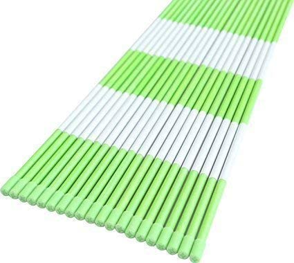 Reflective Tape Snow Stakes Plow Stakes Neon Green 100-Pack 5//16 Diameter x 48 Driveway Marker Fiberglass