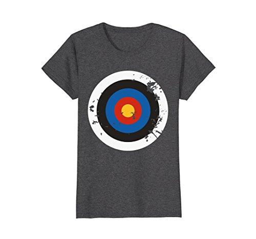 Womens Distressed Archery Target Bullseye Halloween Costume T-Shirt Large Dark (Target Costumes For Women)