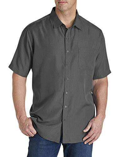 Harbor Bay by DXL Big and Tall Microfiber Comfort Grid Sport Shirt, Castle Rock, 3XL (Best Man Down Cast)