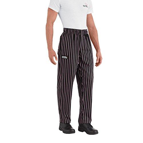Pro Pinstripe Pant - Chefwear 3500-08 Men's Ultimate Chef Pant S Black/Pink Pinstripe