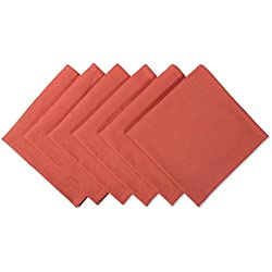 """DII 100% Cotton Cloth Thanksgiving Napkins, Oversized 20x20"""" Dinner Napkins, For Basic Everyday Use, Banquets, Weddings, Events, or Family Gatherings - Set of 6, Orange Spice"""