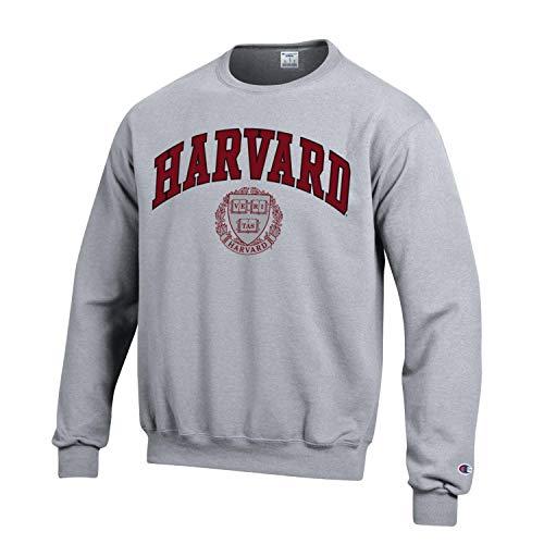 - Champion Harvard University Crimson Men's Crew-Neck Sweatshirt-Gray