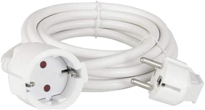 Cable alargador de corriente para jardín, color blanco, 5 metros, OS-5M: Amazon.es: Bricolaje y herramientas