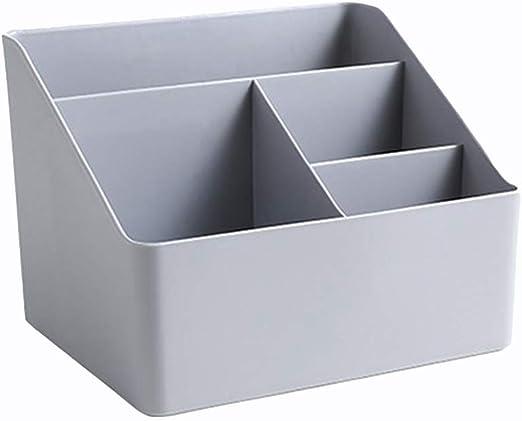 Toyvian Cajas de Almacenamiento de Escritorio de plástico Caja de Soporte de lápiz de lápiz de Organizador de Maquillaje multifunción para Oficina en casa (Gris): Amazon.es: Hogar
