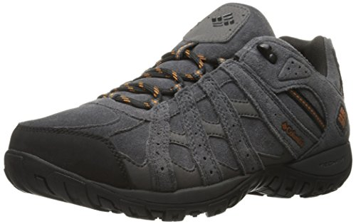 Columbia Redmond Leather Omni-Tech, Zapatillas de Deporte Exterior Para Hombre, Gris (Dark Grey/Bright Copper 089), 40 EU