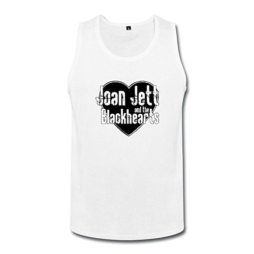 [JUJ Joan Jett & The Blackhearts Men's Tank Top White Medium] (Joan Jett Wigs)