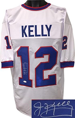 f4248fd66f7 Jim Kelly Autographed Jersey - White TB Custom Stitched Pro Style XL on #1)