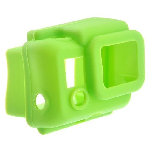 ST-41 Protective Hooded Silicon Cover Case for GoPro HD HERO3 Green