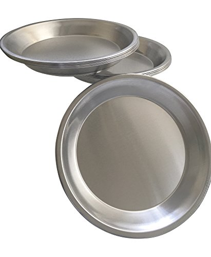 Pie Plate Aluminum Metal 9 Inch pan - Set of 10 by Chicago Metallic
