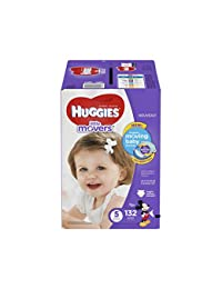 HUGGIES Little Movers Diapers, Size 5, 132 Count BOBEBE Online Baby Store From New York to Miami and Los Angeles