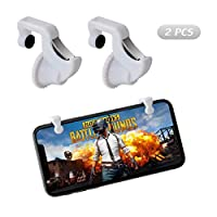 COCASES Mobile Game Controller for PUBG Sensitive Shoot and Aim Battle Royale L1R1 Cellphone Game Trigger Joystick for Rules of Survival -2 Triggers White