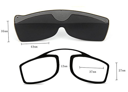 bd093d6801 Pince Nez Style Clamp Nose Resting Pinching Reading Glasses with No Arms  Reader for Men Women