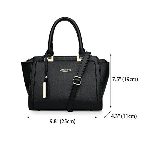 Carteras y bandolera bolsos hombro de mano clutches Fekete Mujer Shoppers y Bolsos de 0YYapv