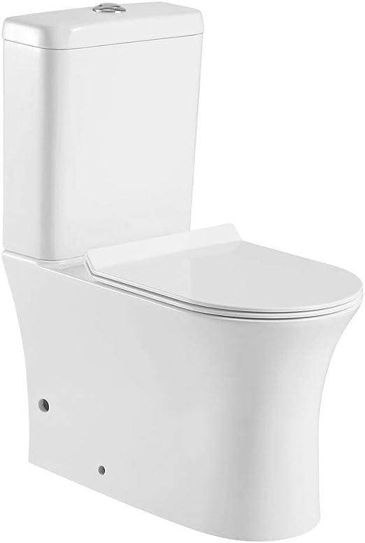 Arcibold Home Pack WC cerámico, Salida Dual, Sistema Rimless ...