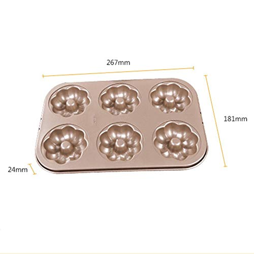 Non-Stick Donut Baking Pans Metal Flower Donut Maker Mold Confeitaria Pastry Stencils Bakeware 3D Forms For Doughnut Cupcakes