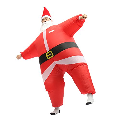 Chub Suit Inflatable Blow up Full Body Jumpsuit Costume (Santa) -