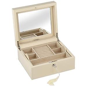 WOLF 315253 London Square Jewelry Box, Cream