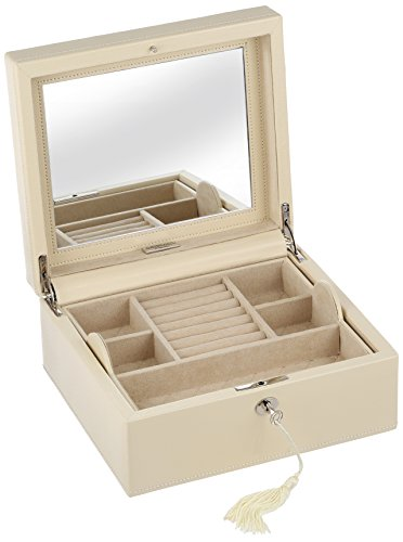 WOLF 315253 London Square Jewelry Box, Cream