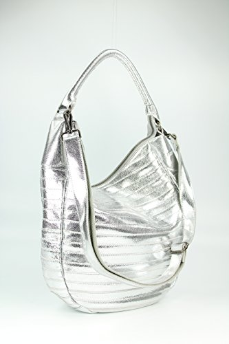 FREDsBRUDER - Bolso de tela para mujer plateado plata