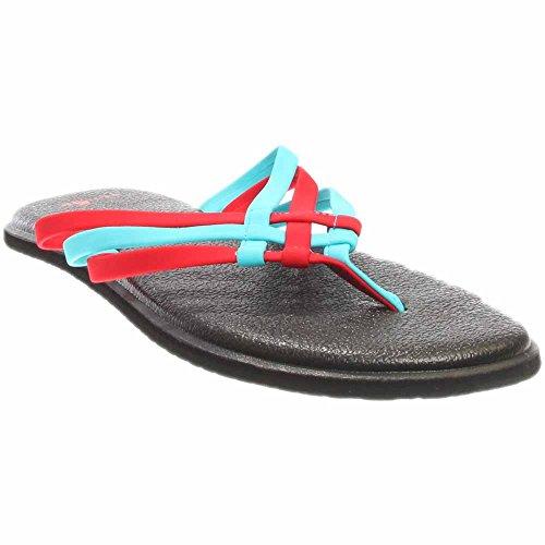 bright Aqua Women's flop Flip Yoga Red Salty Sanuk vqwPpOw