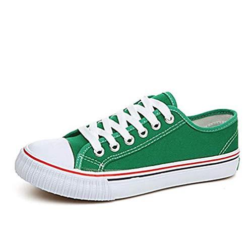 verde Punta Luce Drappeggio Da Di Green Tacco Ttshoes Piatto Giallo rosso autunno Primavera Donna Sneakers Tonda Tela Scarpe Suole 1TgFH