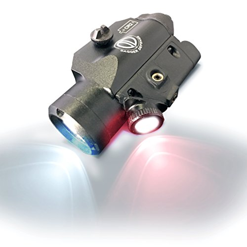 Dagger Defense DD45RL Tactical Picatinny Rail Mounted White and red Flashlight