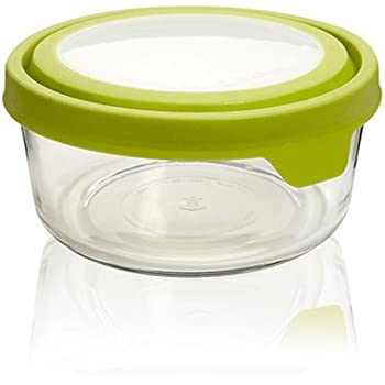 Anchor Hocking TrueSeal Glass Food Storage Container with Airtight Lid, Green, 7-Cup, Single Unit