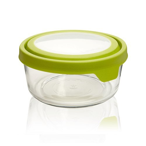 Anchor Hocking TrueSeal Glass Food Storage Containers with Airtight Lids, Green, 7 Cup