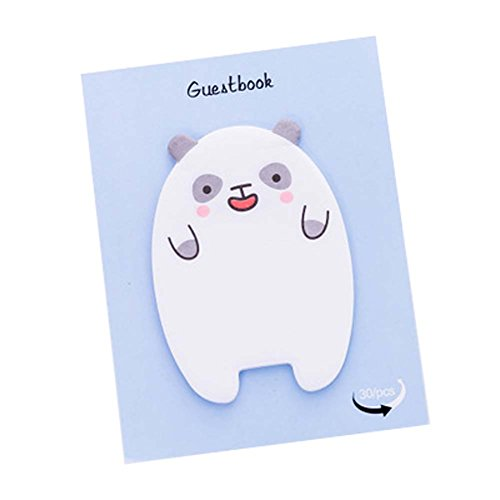 HUIHE Cute Cartoon Kawaii Animal Sheep Bear Post-it Self-Stick Memo Sticky Notes Pads (30 sheets each) 5PCS