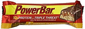 PowerBar Protein Triple Threat 10g, Caramel Peanut Fusion, 1.94-Ounce Bars (Pack of 15)