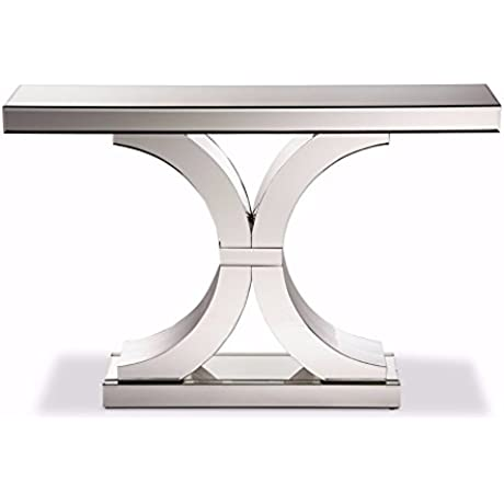 Baxton Studio Mountrose Modern And Contemporary Hollywood Regency Glamour Style Large Mirrored Console Table