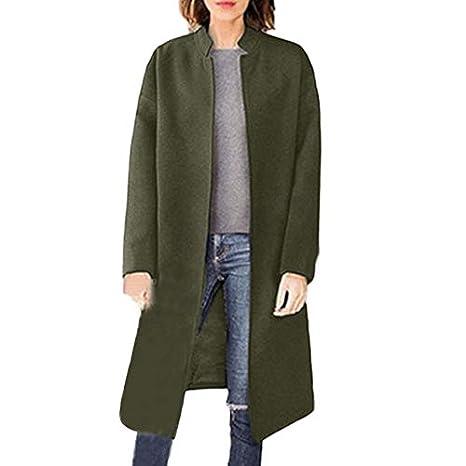 Linlink para Mujeres Abrigo de Invierno Solapa de Lana Abrigo Trinchera Chaqueta de Bolsillo Abrigo Grande Outwear: Amazon.es: Ropa y accesorios