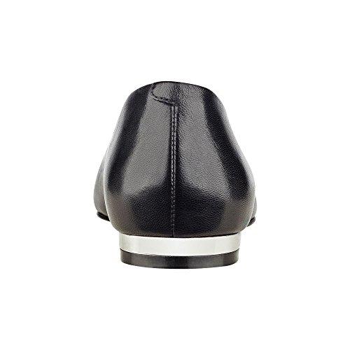 Marc Fisher - Mocasines para mujer Black Leather
