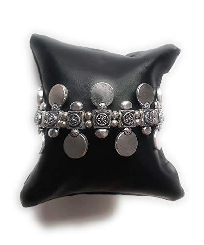 Aryahi Creations Oxidised Metal Silver Tone Kada Fashion Bangles/Bracelets for Girls and Women Tribal Jewellery,Oxidised Silver Jewelery,Statement Kada, Banjara, Boho Chic Jewellery