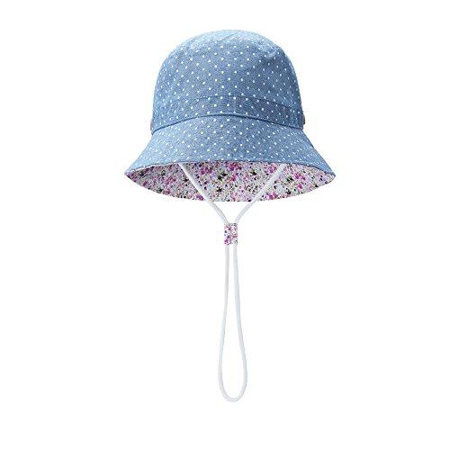 vivobiniya Toddler Baby Boy and Girl Bucket Hat Kid Sun Hat UPF50+ Hat, Size 48 Blue
