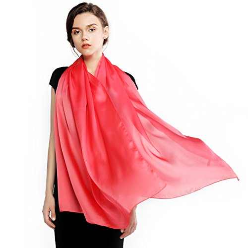 Silk Scarf for Women Feeling Silk Sunscreen Long Large Lightweight Satin Shawl Wrap Headscarf