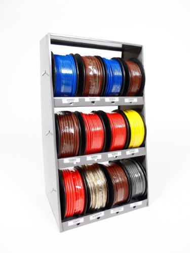 Boat, RV and Auto Wire Set with Wire Tower 10 Different Gauge Wire Spools (Wall Mounted or Table Top Design) (Trailer Of Wire Spools)