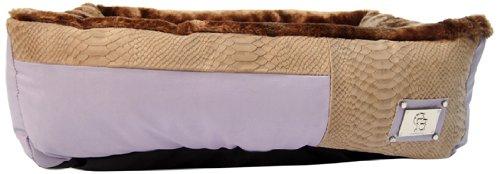 Chrome Bones Mojave Pet Bed, Small, Tan/Lavender
