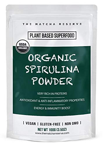 Organic Spirulina Powder, Superfood Powder, THE MATCHA RESERVE ()