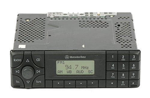 1 Factory Radio AM FM Cassette Radio Compatible with 2000-2004 Mercedes C CLK E S SLK Class A 208 820 11 86 - Mercedes Radio Cassette