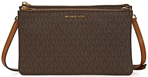Michael Kors Adele Signature Double Gusset Crossbody, - Usa Michael Kors Online