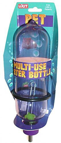 Lixit Steel Stainless Aquarium (Lixit Corporation SLX0855 Aquarium/Cage Small Animal Water Bottle, 8-Ounce)