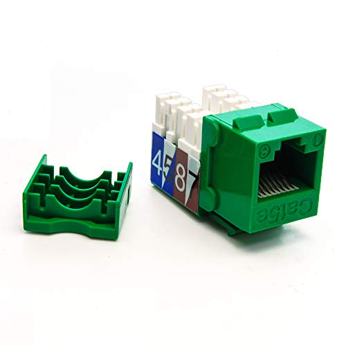 (GOWOS Cat.5E RJ45 110 Type Keystone Jack Green)
