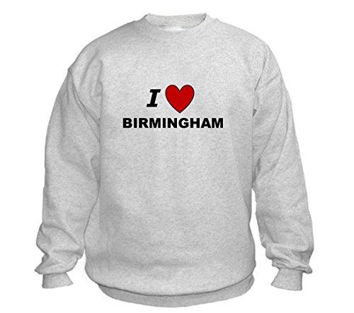 I LOVE BIRMINGHAM - City-series - Light Grey Sweatshirt - size XXL
