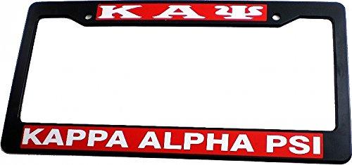 Cultural Exchange Kappa Alpha Psi Plastic License Plate Frame [Black - Car/Truck]
